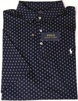 NEW $98 Polo Ralph Lauren Navy Geometric Short Sleeve Classic Fit Shirt NWT