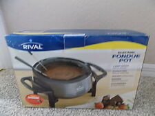 Rival Electric Nonstick Stainless Steel Fondue Pot