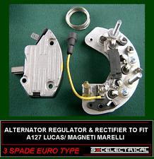 LUCAS A127 TYPE ALTERNATOR KIT RECTIFIER AND REGULATOR EURO PLUG 3 SPADE 131304