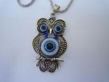 Necklace,Owl pendant (color silver) 5 cm charm animal bird findings suplicies