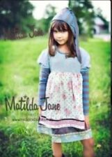 Tween Girls Matilda Jane Gypsy Blue Chrissy Dress size 8 HTF VGUC