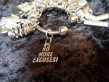NO MORE EXCUSES, You've Got This! Motivation Charm for Weight Watchers Keychain.