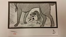 Balto Animated Film - Storyboard -Balto/Jenna legs  -USSBA.009.771