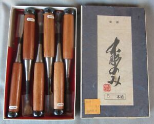 Japanese Carving Chisels 6-Piece Set