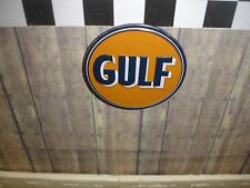 SIGN - GULF oil sign -  Metal Construction - 1/18 & 1/24 Scale Diorama