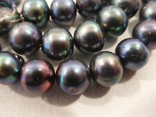 """Genuine PEARLS BLACK   Strand  16""""  9.5-10mm 299.59 cts Cultured FW (#101)"""