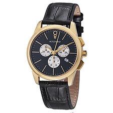 Azzaro Men's Legend Black Dial Chronograph Quartz Leather Watch AZ2040.63BB.000