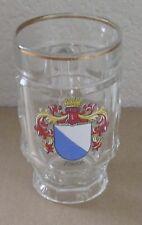 Zurich Pilsner 8oz Beer Mug Glass Glassware Barware Gold Trim Made in France