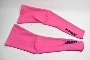 Verge Women's Fleece Cycling Leg Warmers Pink Size Small New Old Stock