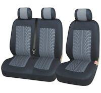 2+1 Auto Sitzbezüge Polyester Grau/Schwarz Bus OVP Neu für