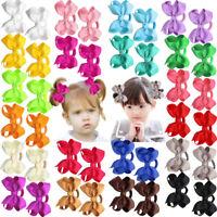40Lots Baby Girls Hair Bows Hair Ties Ponytail Holders Kids Rubber Elastic Bands