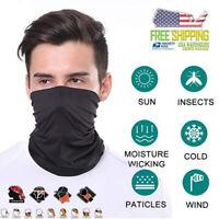 (2 pack) Face Mask Sun Shield Neck Gaiter Balaclava Neckerchief Bandana Headband