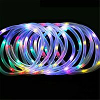Solar Power 12M LED String Rope Fairy Lights Xmas Garden Party Outdoor Yard Lamp