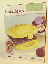 Babycakes Donut Maker, Mini Yellow New in box  instructions have RECIPES