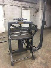 Vintage Antique Challenge Machinery Amp Co Free Standing Paper Cutter Machine Unit