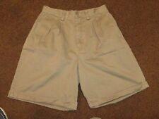women's EDDIE BAUER shorts--size 10--cuffed style--light brown