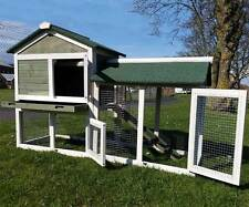 RABBIT HUTCH GUINEA PIG HUTCHES RUN RUNS 2 TIER DOUBLE DECKER FERRET CAGE