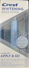 NEW!! Crest Whitening Emulsions Leave on Whitening Treatment - 0.35 Oz