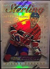 PIERRE TURGEON 1995-96 Finest Silver REFRACTOR Parallel SP Card #182 CANADIENS