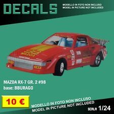 DECALS repro Mazda Rx-7 #98 Rally Gr. 2 Racing red Bburago Burago 1/24 1 24