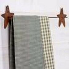Rusty Tin Star Towel Rack-Perfect for kitchen towels, dish cloths, Etc