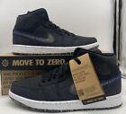 Nike Air Jordan 1 Mid SE Retro Shoes Crater Black Blue DM3529-001 Mens Size