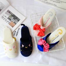 Sailor Moon Luna Cat Slippers Women Girls Warm KAWAII Shoes Homewear Cotton New