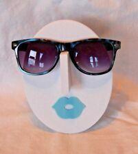 New Ochila Wayfair Blue Animal Print Sunglasses / Hard Case & Microfiber Cloth