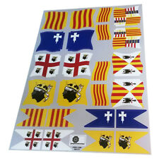 Banderas Corona Aragón/Crown Aragon flags/flaggen-Playmobil Stickers/Aufkleber