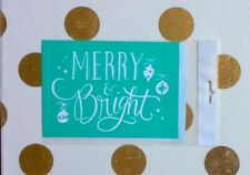 """RETIRED—New In Package """"Merry & Bright Ornaments"""" Chalk Couture Transfer"""