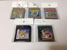 Lot 5 Set SUPER MARIO LAND 1 & 2 & 3 & WARIOLAND 1&2 Nintendo GAME BOY Japan