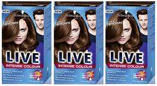 Schwarzkopf LIVE Intense 088 Urban Brown Pro Permanent Hair Colour Dye x 3