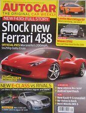 Autocar magazine 29/7/2009 featuring Nissan 370Z road test, Ferrari, Jaguar, BMW