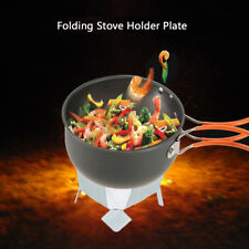 Portable Folding Pot Holder Plate with Tray Solid Fuel Alcohol Stove Burner
