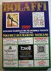 1989 Bolaffi Catalogo Francobolli Italiani Vaticano San Marino 2°Volume
