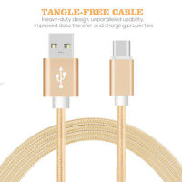 3/6FT Type-C USB Data Sync Fast Charging Charger Cable Cord for Samsung Android