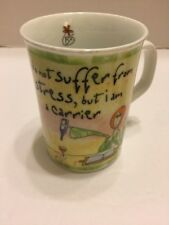 History & Heralding Cup Mug  Porcelain I Do Not Suffer From Stress I'm A Carrier