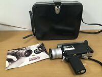 Canon 518 Auto Zoom Super 8 Cine Film Camera & Case (Does not power up)