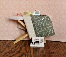 Dollhouse Miniature Modern Sewing Set Ironboard Sewing Machine Steam Iron 1:12