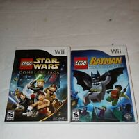 Wii LEGO Star Wars and Wii Lego Batman Both in Great Shape with Instructions