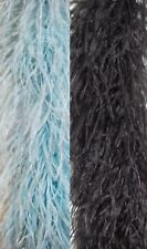 "Two-Tone OSTRICH FEATHER BOA 72"" Custom Made 4-PLY Boas [Costumes/Halloween]"
