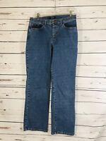Izod Womens Jeans Size 8 X 29 Medium Wash Blue Straight Leg Stretch Ladies