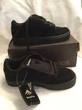 Genuine Emerica Mob Juventud Niños Negro Gamuza Para Niños Zapatos de Skate tamaño de Reino Unido 11 Nuevo Y En Caja