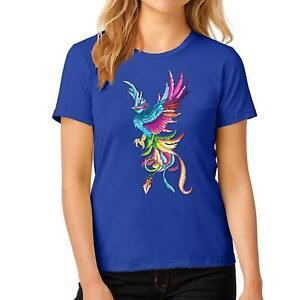 Ladies Fancy Multicolor Peacock Printed TShirt Girls Party Wear Novelty Top Tees