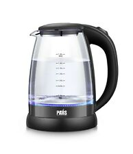 Glass cordless Electric Kettle with LED indicator, 1200W Electric Tea Kettle