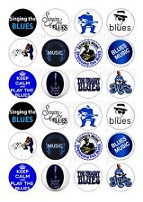 24 SINGING THE BLUES TOPPER ICING EDIBLE FAIRY/CUP CAKE  TOPPERS