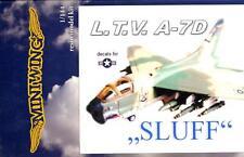 """MiniWing Models 1/144 L.T.V. A-7D CORSAIR II """"SLUF"""" Attack Jet"""