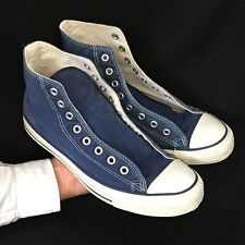 Vintage USA-MADE Converse All Star Chuck Taylor shoes sz 9.5 blue, very nice