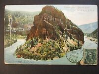 1908 Tunnel Point Grande River Colorado to Canada Real Picture Postcard Cover