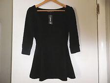 New  Lookbook Store  Black Raised Textured Print  3/4 Sleeve Top size 4 NWT